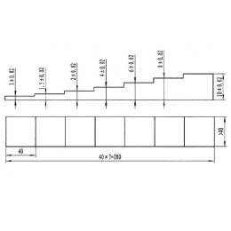 超声波测厚试块(7阶梯试块)