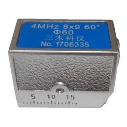 4MHz 8×9 60°  Φ60 超声波斜探头(凹面磨弧)