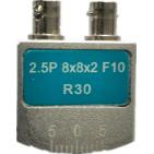 2.5P 8×8×2 F10 R30 双晶直探头(凸面磨弧)