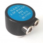 2.5MHz Φ14 F25 R54 双晶探头(凹面磨弧)